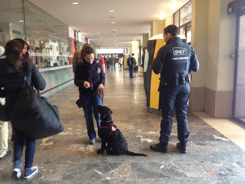 Première visite à la gare SNCF