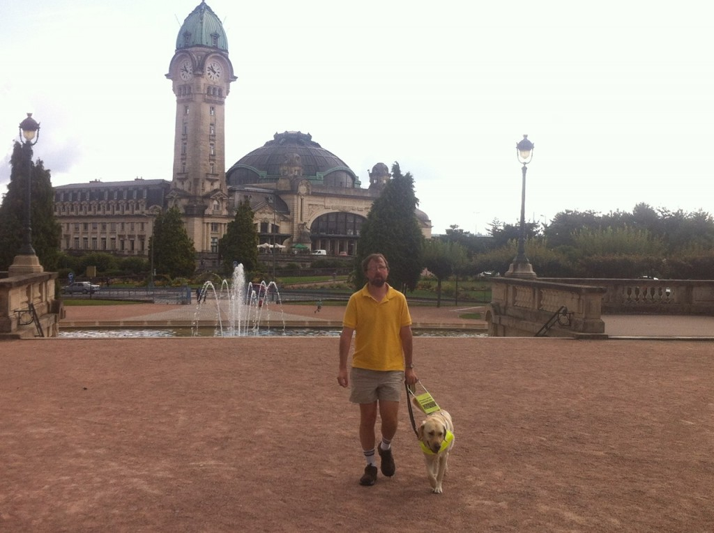 Richard Wadwell and his guide dog Ralph