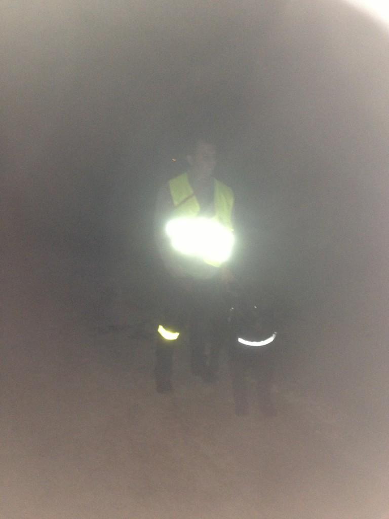 Igor et Nicolas en déplacement nocturne